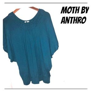 MOTH ANTHRO TEAL DOLMAN SOFTEST TOP!